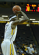 January 04 2010: Iowa Hawkeyes forward Melsahn Basabe (1) puts up a shot during the first half of an NCAA college basketball game at Carver-Hawkeye Arena in Iowa City, Iowa on January 04, 2010. Ohio State defeated Iowa 73-68.