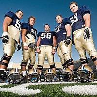 Montana State University offensive line
