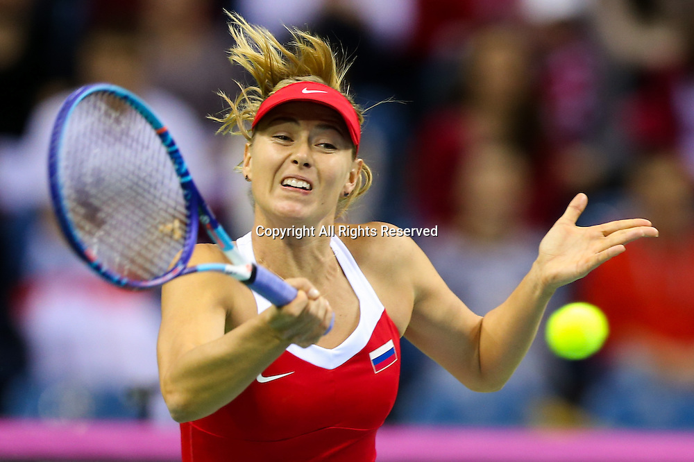 08.02.2015. Krakow, Poland, Fed Cip international tennis tournement, Poland versus Russia.  Maria Sharapova (RUS)