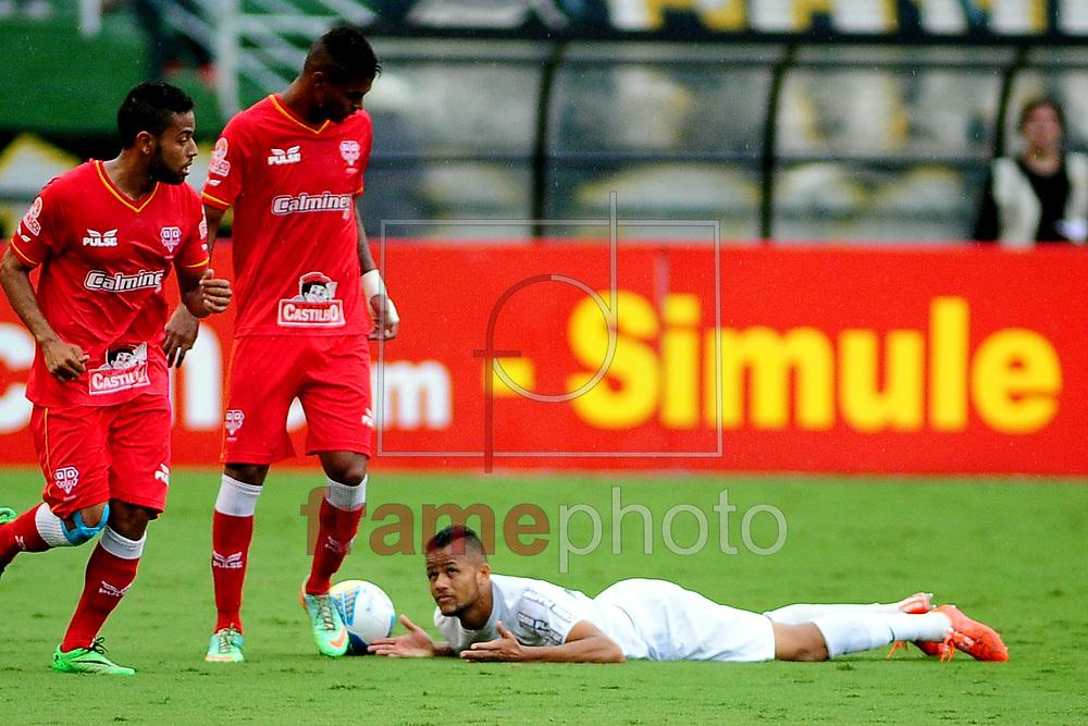 O jogador Geuvanio durante o jogo entre Santos x Audax,  em partida válida pelo campeonato paulista de 2015 , no estádio do Pacaembu em Sao Paulo. Foto ALAN MORICI/FRAME