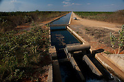Jaiba_MG, Brasil.<br /> <br /> O canal principal de irrigacao do Projeto Jaiba. Agua puxada 50km abaixo do Rio Sao Francisco em Jaiba, Minas Gerais.<br /> <br /> The main canal irrigation Jaiba project. Water drawn 50km below the Sao Francisco river in Jaiba, Minas Gerais.<br /> <br /> Foto: LEO DRUMOND / NITRO