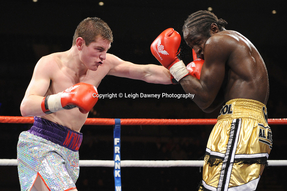 "Joe McNally defeats Bertrand Aloa at the Echo Arena, Lverpool,11th December 2010,Frank Warren.tv Promotions ""Return Of The Magnificent Seven"" © Photo Leigh Dawney"