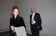 Romilly and Charles Saumeraz Smith, Ron Mueck, Making sculpture at the National Gallery. Private view hosted by the National Gallery and Art Review. 18 March 2003. © Copyright Photograph by Dafydd Jones 66 Stockwell Park Rd. London SW9 0DA Tel 020 7733 0108 www.dafjones.com