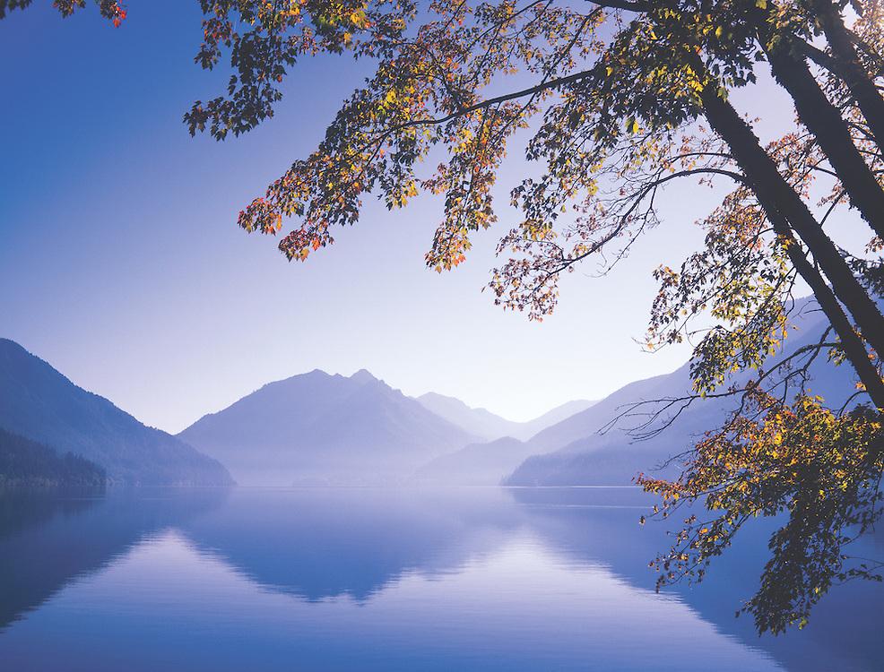 Calm Autumn Afternoon on Crescent Lake, Olympic National Park, Washington