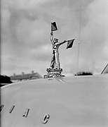 Lord and Lady Mountbatten at Mullaghmore. A sailor mascot on Mountbatten's car..29-30.07.1960