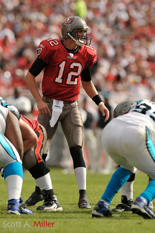 Dec. 30, 2007; Tampa, FL, USA; Tampa Bay Buccaneers quarterback Luke McCown (12) during the Bucs game against the Carolina Panthers at Raymond James Stadium.                        ©2007 Scott A. Miller..©2007 Scott A. Miller