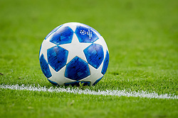 ball logo champions league during the UEFA Champions League group E match between Ajax Amsterdam and AEK FC at the Johan Cruijff Arena on September 19, 2018 in Amsterdam, The Netherlands