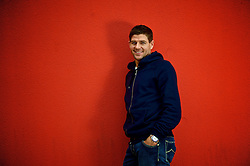 08.10.2012, Melwood Training Ground, Liverpool, ENG, Premier League, Fc Liverpool, Photocall, im Bild FC Liverpool Kapitaen Steven Gerrard // Liverpool's captain Steven Gerrard poses for a photograph during a Potocall of the English Premier League Club Liverpool FC at Melwood Training Ground, Liverpool, Great Britain on 2012/10/08. EXPA Pictures © 2012, PhotoCredit: EXPA/ Propagandaphoto/ David Rawcliffe..***** ATTENTION - OUT OF ENG, GBR, UK *****