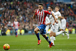 17.01.2016, Estadio Santiago Bernabeu, Madrid, ESP, Primera Division, Real Madrid vs Real Sporting, 20. Runde, im Bild Real Madrid´s Daniel Carvajal (R) and Sporting de Gijon´s Jony // during the Spanish Primera Division 20th round match between Real Madrid and Real Sporting at the Estadio Santiago Bernabeu in Madrid, Spain on 2016/01/17. EXPA Pictures © 2016, PhotoCredit: EXPA/ Alterphotos/ Victor Blanco<br /> <br /> *****ATTENTION - OUT of ESP, SUI*****