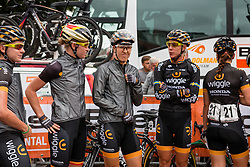 Riders of Wiggle Honda with Danielle King and Jolien D'Hoore waiting for the sign-on at the Holland Ladies Tour, Zeddam, Gelderland, The Netherlands, 1 September 2015.<br /> Photo: Pim Nijland / PelotonPhotos.com