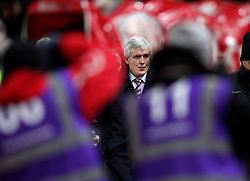 Stoke City Manager Mark Hughes enters the Britannia Stadium for the game against Norwich City - Mandatory byline: Robbie Stephenson/JMP - 13/01/2016 - FOOTBALL - Britannia Stadium - Stoke, England - Stoke City v Norwich City - Barclays Premier League