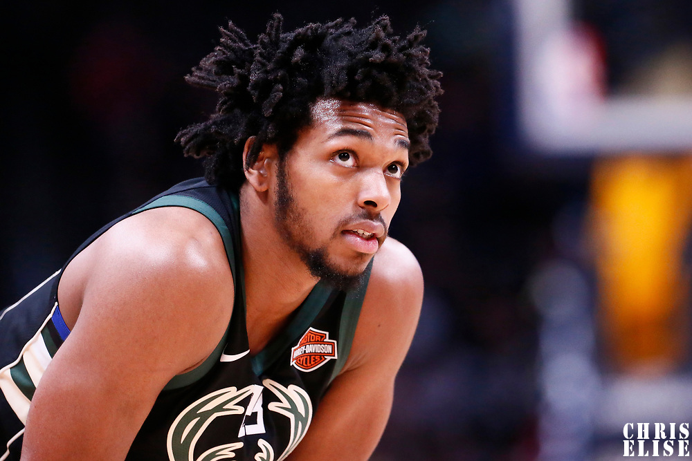 01 April 2018: Milwaukee Bucks guard Sterling Brown (23) is seen during the Denver Nuggets 128-125 victory over the Milwaukee Bucks, at the Pepsi Center, Denver, Colorado, USA.