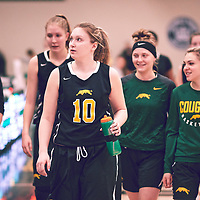 4th year forward, Alexi Rowden (10) of the Regina Cougars during the Women's Basketball Home Game on Sat Feb 02 at Centre for Kinesiology,Health and Sport. Credit: Arthur Ward/Arthur Images