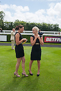 LUCY FOLLON; LEONA MAYER, Ladies Day, Glorious Goodwood. Goodwood. August 2, 2012