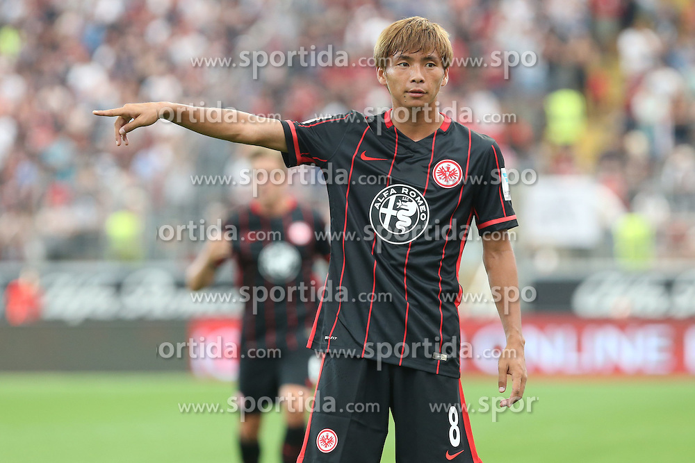02.08.2015, Commerzbank Arena, Frankfurt, GER, Testspiel, Eintracht Frankfurt vs FC Tokio, im Bild Takashi Inui (Frankfurt) im Fokus gegen seine Landsleute // during the International Friendly Football Match between Eintracht Frankfurt vs  FC Tokyo at the Commerzbank Arena in Frankfurt, Germany on 2015/08/02. EXPA Pictures © 2015, PhotoCredit: EXPA/ Eibner-Pressefoto/ Roskaritz<br /> <br /> *****ATTENTION - OUT of GER*****
