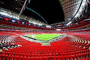 General view inside Wembley Stadium ahead of the UEFA European 2020 Qualifier match between England and Montenegro at Wembley Stadium, London, England on 14 November 2019.