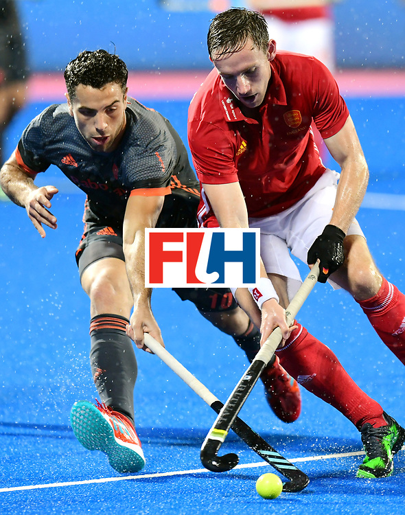 Odisha Men's Hockey World League Final Bhubaneswar 2017<br /> Match id:17<br /> England v Netherlands<br /> Foto: David Goodfield (Eng) and Valentin Verga (Ned) <br /> COPYRIGHT WORLDSPORTPICS FRANK UIJLENBROEK