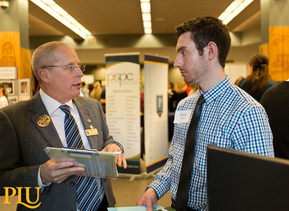 Education Career Fari at PLU on Wednesday, March 18, 2015. (Photo: John Froschauer/PLU)