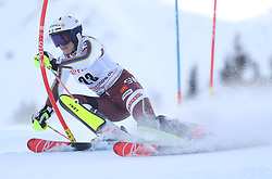 28.01.2018, Lenzerheide, SUI, FIS Weltcup Ski Alpin, Lenzerheide, Slalom, Damen, 1. Lauf, im Bild Estelle Alphand (SWE) // Estelle Alphand of Sweden in action during her 1st run of ladie's Slalom of FIS ski alpine world cup in Lenzerheide, Austria on 2018/01/28. EXPA Pictures © 2018, PhotoCredit: EXPA/ Sammy Minkoff<br /> <br /> *****ATTENTION - OUT of GER*****