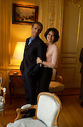 Lambert Wilson and Fanny Ardant, Launch of the 2004 Renault French Film season,  French Ambassador's residence. London. 25 March 2004. 25 March 2004. ONE TIME USE ONLY - DO NOT ARCHIVE  © Copyright Photograph by Dafydd Jones 66 Stockwell Park Rd. London SW9 0DA Tel 020 7733 0108 www.dafjones.com