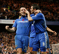 Chelsea's John Terry celebrates scoring his sides opening goal with Frank Lampard..Barclays Premier League..Chelsea v Manchester United..8th November, 2009.(Credit Image: © David Klein/Sportimage/Cal Sport Media/ZUMApress.com)
