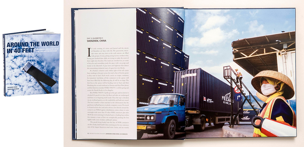 "From the book ""Around the World in 40 Feet"", commissioned by Nippon Yusen Kaisha, Japan. A 125,000 km epic about travel, trade and interconnected cultures, following a shipping container as it works its way across six continents."