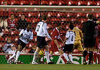 Fotball<br /> Premier League England 2004/2005<br /> Foto: SBI/Digitalsport<br /> NORWAY ONLY<br /> <br /> Middlesbrough v Manchester City<br /> Barcalys Premiership. 06/12/2004.<br /> <br /> Manchester City's Bradley Wright-Phillips (L) punches the air after scoring shortly after coming onto the field.
