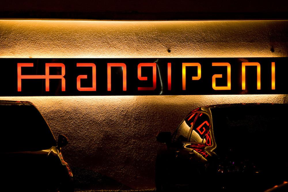 Outside of the popular club Frangipani in Kuala Lumpur, Malaysia