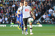 Derby County midfielder Bradley Johnson (15) controls the ball during the EFL Sky Bet Championship match between Derby County and Leeds United at the iPro Stadium, Derby, England on 15 October 2016. Photo by Aaron  Lupton.