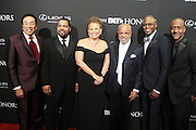8 February -Washington, D.C: (L-R Recording Artist Smokey Robinson, Recording Artist/Actor/Director Ice Cube, Debra L. Lee, President & Chairperson, BET Networks, Music Executive/Producer Berry Gordy, Comedian/Actor Wayne Brady and Stephen Hill, President of Programming & Specials, BET Networks attend the BET Honors 2014 Red Carpet held at the Warner Theater on February 8, 2014 in Washington, D.C.  (Terrence Jennings)