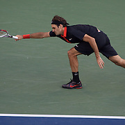 Roger Federer, Switzerland, in action against Juan Martin Del Potro, Argentina, during the Men's Singles Final Final at  the US Open Tennis Tournament at Flushing Meadows, New York, USA, on Monday, September 14, 2009. Photo Tim Clayton.