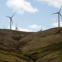 The EDF Burnfoot Hill windfarm sits in the hills in Glendevon, Perthshire<br />