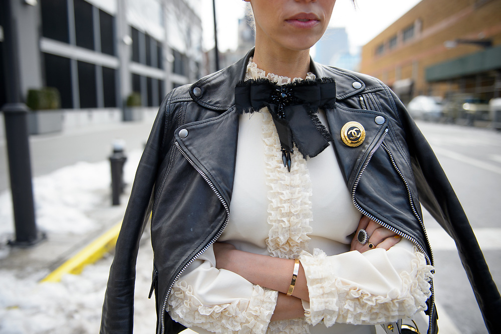 Chanel and Cartier, Outside Naeem Khan FW2017