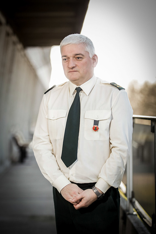 BRUSSELS.03/02/2014. PORTRAIT OF MAJOR LEMAL, MILITAR PSYCHOLOGIST OF THE BELGIUM ARMY FOR LE SOIR NEWSPAPER.