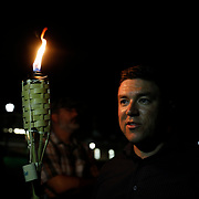 CHARLOTTESVILLE,VA-AUG11: Jason Kessler, the organizer of the Unite the Right rally before the torch march at the University of Virginia. (Photo by Evelyn Hockstein/For The Washington Post)