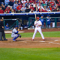 Philadelphia Phillies vs LA Dodgers at 2009 NLC Championship game at ciitzens bank park