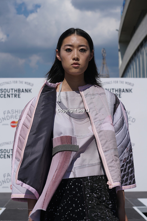 London,England,UK: 23th July 2016: Hackney-based charity Fashion Awareness Direct (FAD) amongs with designer Hana Minowa ,David Bennie showcases at the Fashion Undressed with MasterCard at the Royal Festival Hall, Southbank, London,UK. Photo by See Li
