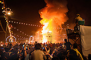 The night time crowds of the Dussehra Festival watch the burning of the giant figures and fireworks<br /> <br /> Nikon D750 35mm  ISO 6400  f5  1/200s
