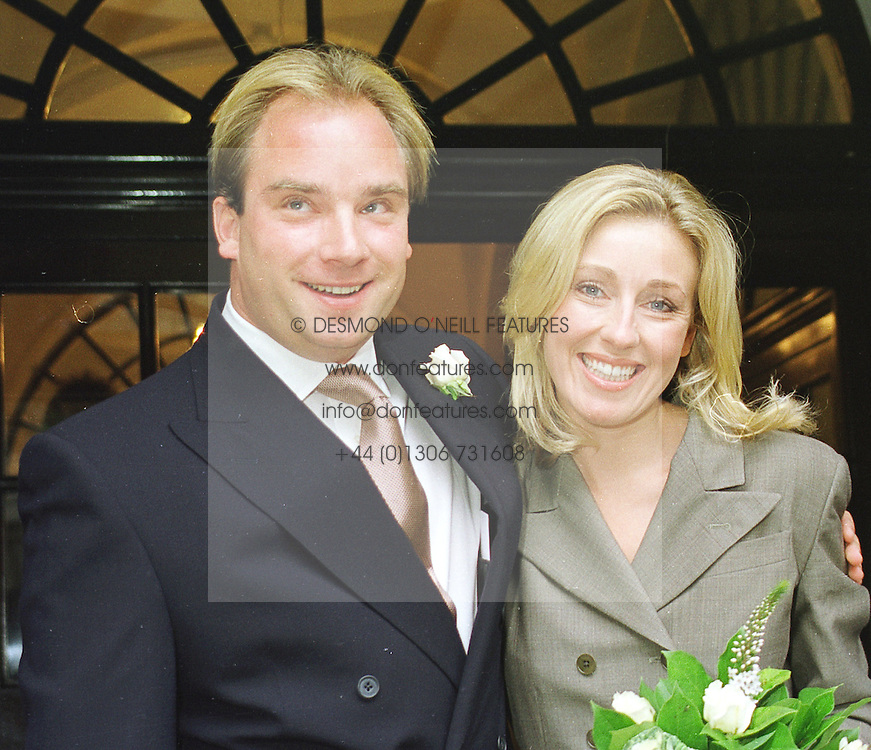 MR & MRS TARA GETTY he is son of billionaire Sir J Paul Getty at their wedding in London on 5th October 1998.MKM 7