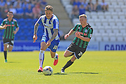 George Moncur, Jamie Allen during the Sky Bet League 1 match between Colchester United and Rochdale at the Weston Homes Community Stadium, Colchester, England on 8 May 2016. Photo by Daniel Youngs.