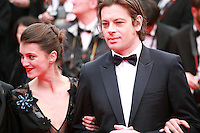 Barbara Probst and Benjamin Biolay at the Foxcatcher gala screening red carpet at the 67th Cannes Film Festival France. Monday 19th May 2014 in Cannes Film Festival, France.