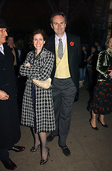 MOLLIE DENT-BROCKLEHURST and WILLIAM CASH at the wedding of Clementine Hambro to Orlando Fraser at St.Margarets Westminster Abbey, London on 3rd November 2006.<br />
