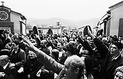 Italia, 2004, dal libro Ci resta il nome. Predappio (Forlì). Saluto romano presso la tomba di Mussolini. Roman salute at the tomb of Mussolini. arte, arts, cultura, culture, monument, monumento, sito storico, heritage site arte, arts, cultura, culture, monument, monumento, sito storico, heritage site