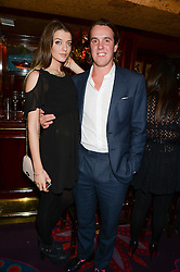 ELIZA MONCREIFFE and MICHAEL WALKER at Tatler Magazine's Little Black Book Party held at Annabel's, Berkeley Square, London on 5th November 2013.