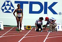 Athletics, 23. august 2003, VM Paris, World Championschip in Athletics,  Lima Azimi, Afganishtan, didnt know how to use the startblock