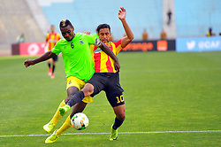 May 12, 2017 - Rades, Tunisia - Mejri Bilal(R)  of  (EST) and Omba Munganga (6)l of the Vita club during the First day of the group stage of the Champions League  2017 Total  between Esperance Sportive de Tunis (EST) and the formation of AS Vita Club (RD Congo) at the Rades stadium..The Esperance Sportive de Tunis (EST) won by 3/1. (Credit Image: © Chokri Mahjoub via ZUMA Wire)