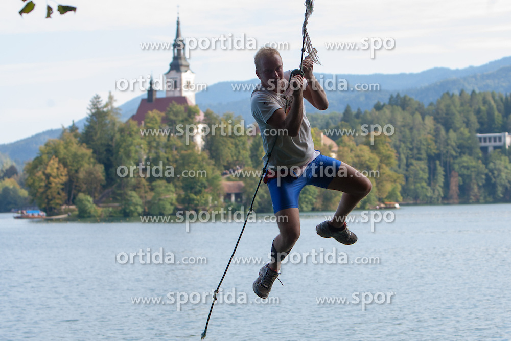 Luka Kleva during rowing at Slovenian National Championship and farewell of Iztok Cop, on September 22, 2012 at Lake Bled, Ljubljana Slovenia. (Photo By Matic Klansek Velej / Sportida)