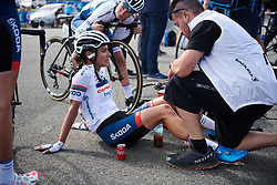Ashleigh Moolman Pasio (RSA) recovers after Grand Prix de Plouay - Lorient Agglomération WNT 2018. A 125.5 km road race in Plouay, France on August 25, 2018. Photo by Sean Robinson/velofocus.com