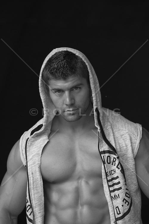 All American man wearing a hoody