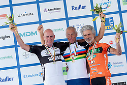 Gerhard Hrinkow from Austria, Jan Krasson from Sweden and Francesco Bolpagni from Italy during UCI amateur Road World Championship 2014 on August 31, 2014 in BTC City, Ljubljana, Slovenia. Photo by Urban Urbanc / Sportida.com